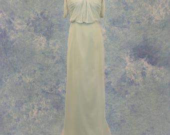 Pastel Blue Green Bridesmaid Dress Short Formal Bat Mitzvah Homecoming SAMPLE SALE!
