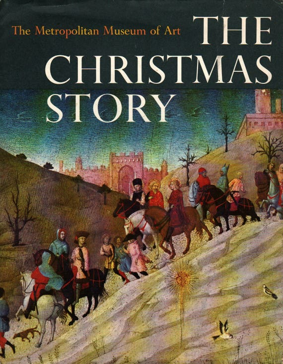 The Christmas Story from the Gospels of Matthew & Luke – The Metropolitan Museum of Art + 1966 + Vintage Kids Book