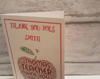 Personalised greetings cards, personalised cards, word art cards, card offfer