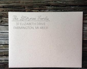 Address Stickers, Personalized, Wedding Invitation Labels, Family Calligraphy Address Labels, Custom Return Address Labels