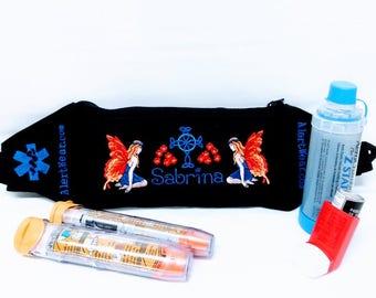 Medical Alert Medicine Case Fanny Pack for EpiPens, AuviQ, Asthma Supplies, Diastat, Diabetic Supplies by Alert Wear