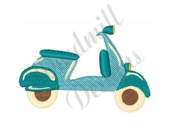 Vespa Scooter - Machine Embroidery Design