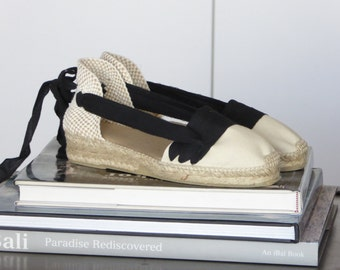 Lace Up Espadrilles Mini Wedges - PAYESAS - Handmade In Spain - www.mumico.es