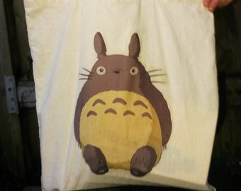"Totoro Canvas Tote Bag / Shopper, Studio Ghibli ""My name is Totoro: No.1"