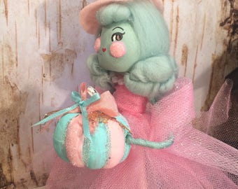 Halloween ornament witch ornament witch doll pink halloween party decor fairy tale fall art doll sugar cookie dolls toni kelly