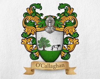 O'Callaghan Family Crest - Print