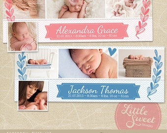 Facebook Timeline Cover - Photoshop Template for photographers (FB1) - INSTANT DOWNLOAD