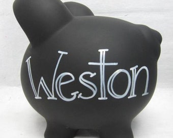 Personalized Piggy Bank- Decorate your own Chalkboard