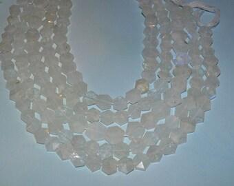 AA Grade Natural Moonstone Hexagon Beads,- (2014046)
