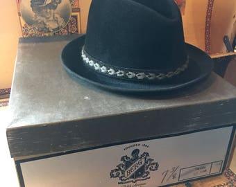 Berg Velour fedora and hat box