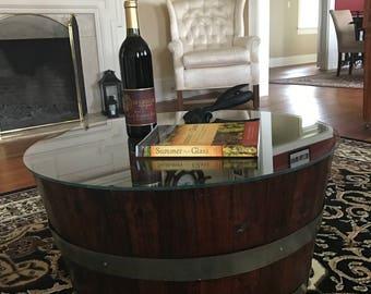Wine Barrel Table | Etsy