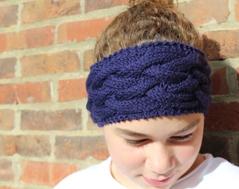 KNITTING PATTERN Cable Headband Pattern Double Dutch Three Sizes Ideal for Beginners Accessory Ear Warmer