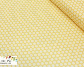 Sun Yellow/Cream Dots From Birch Organic Fabric's Mod Basics Collection