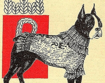 Reqal Dog Blanket - Sweater Knitting Pattern Vintage 726028