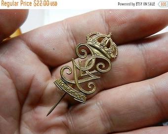 Spring Sale Vintage Sweden Swedish King Gustaf Monogram Stick Pin
