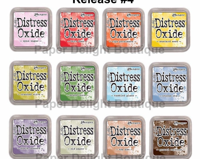 New! (estimated to ship 7/19) Release #4 - Tim Holtz Distress Oxide Ink Pads - All 12 NEW July 2018 Colors