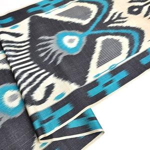 Blue Ikat Fabric, Handloom Ikat Fabric, Handwoven Ikat Fabric, Clothing  Fabric, Sewing