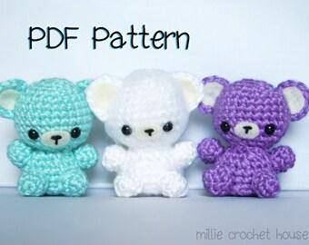Teeny Tot Bears Crochet Pattern, Amigurumi Bear Pattern, Crochet Tutorial