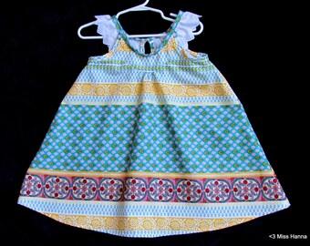 Ruffle sleeve dress for 3 - 4 year old girl