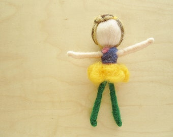 Needle Felted Spring Fairy-Wool doll decoration