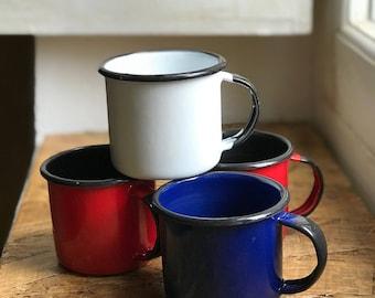 Enamelware coffee cups