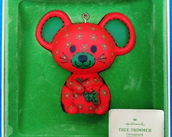 1978 Calico Mouse Hallmark Retired Tree Trimmer Collection Ornament