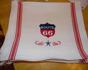 Route 66 Dish Towels Online Memorabilia, Get your kicks on the route old route 66