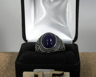 Ring in 925 sterling silver adjustable, for men or women