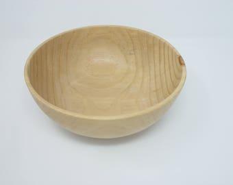 Pine Salad Bowl || Wood Salad Bowl || Handmade Salad Bowl || Lathe Turned Salad Bowl || Wood Food Serving Bowl || #284