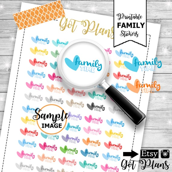 Family Stickers Vacation Planner Stickers Vacation Stickers