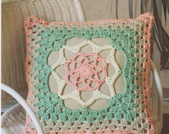 DMC 15238L/2 Elegant Cushion Cover Crochet Pattern