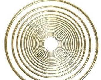 Pepperell 4 Inch Brass Ring