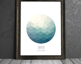 Earth - The Blue Marble - 8x10 DIGITAL PRINTABLE PDF