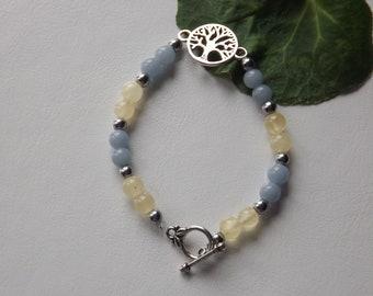 tree of life bracelet calcite angelite