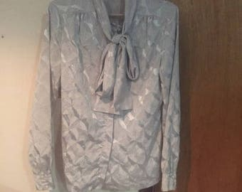 80's New Wave Secretary Blouse