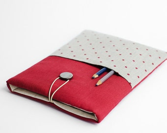 Surface Pro 4, Surface Pro 3 sleeve, polka dot, with pocket