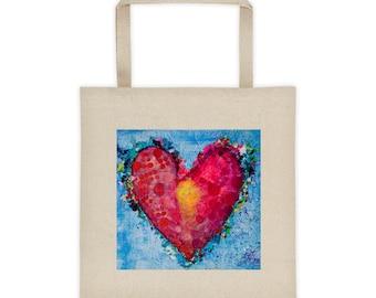 Heart Center Tote bag
