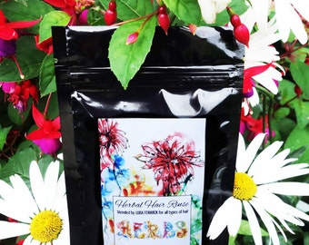 Herbal Hair  Rinse Blend for all types of hair,  Net weight: 50 gr  (1.76 oz), 100gr (3.52 oz), 100% natural hair product
