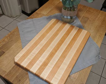 Striped maple and cherry cutting board