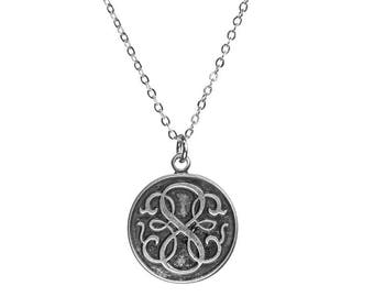 Path of Life Coin Silver Necklace