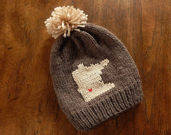 Minnesota Hometown Knit Hat : Baby Hat, Toddler Hat, Child Hat, Adult Hat