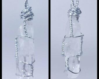 Quartz Crystal Wrap Necklace*