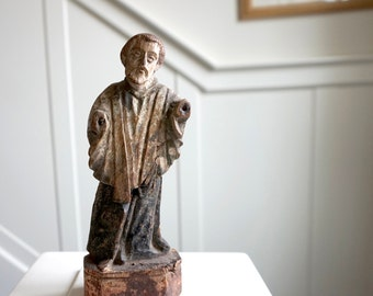 Saint Francis Xavier Statue from Goa Antique Santos Shipping Included in the U.S.
