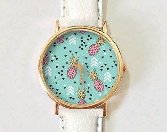 Summer Jewelry, Pink Pineapple Watch, White Arrow, Cute Watches, Teen Gift, Girls Jewelry, Bestfriend Gift, Summer Fashion, Teenager gift