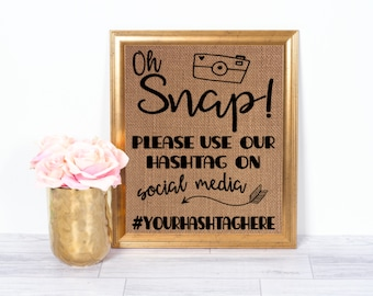 Please use our hashtag / Business Hashtag Sign / # Sign / Social Media Sign / Business Social Media Sign / Custom Hashtag Sign/ #Sign