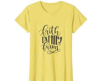 Faith Family Farm Southern Living Instant Download Iron On PNG T-Shirt Design