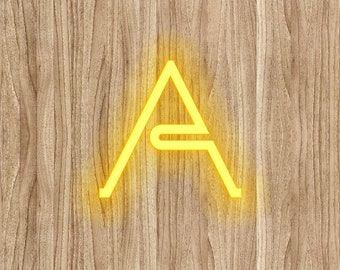 Neon Light Digital Paper A Neon Font Digital Print Wood Background