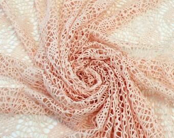 Blush Neuronite Open Sweater Knit Fabric - 1 Yard Style 6386