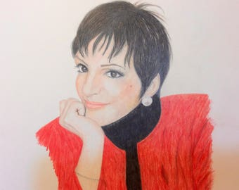 Prismacolor Pencil Drawing of Liza Minnelli
