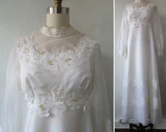 1960s wedding dress   60s wedding dress   vintage 1960s wedding dress   vintage wedding dress   medium   The Margaret Ann Wedding Dress